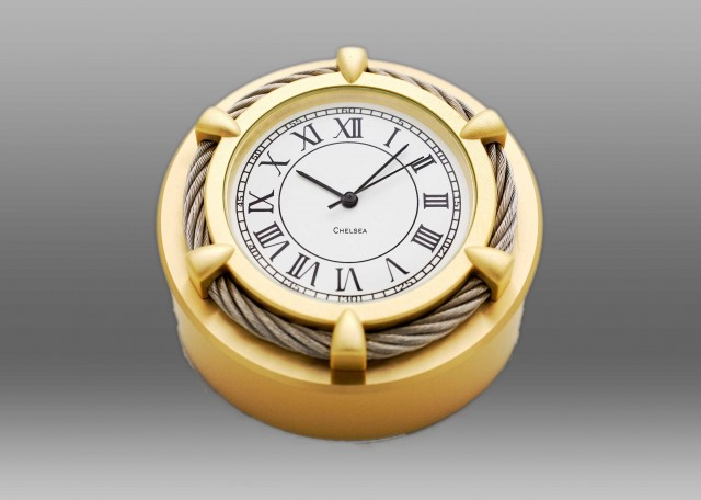 Cable Paperweight Clock