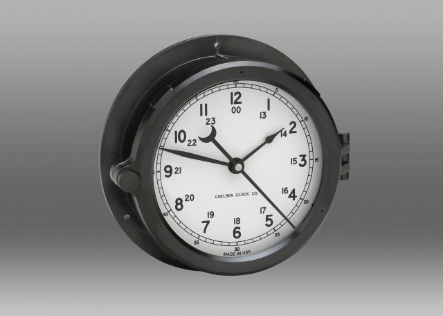 "Patriot Deck Clock - 6"" White Dial"