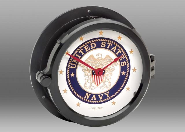 Patriot Deck U.S. Navy Clock - Red Hands
