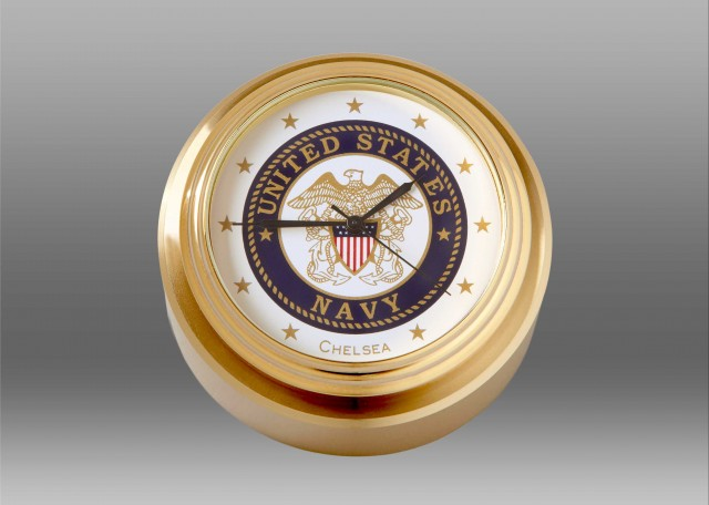 US Navy Waterfall Paperweight Clock