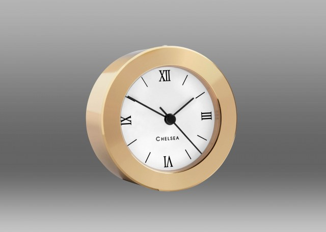 Duxbury Desk Clock, Brass