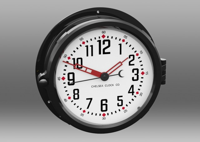 "Patriot Colors Clock - 8.5"" White Dial"