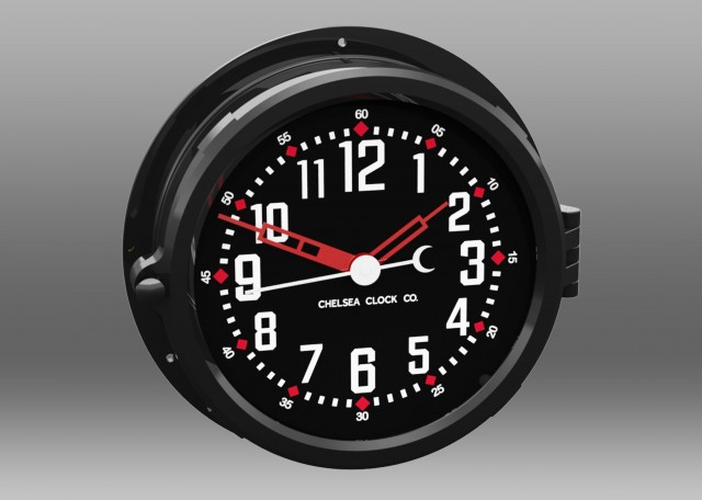 "Patriot Colors Clock - 8.5"" Black Dial"