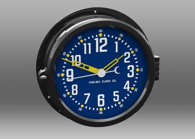"""NEW! Patriot Colors Clock - 8.5"""" Blue Dial"""