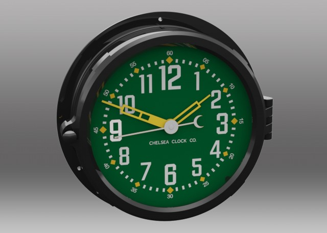 "Patriot Colors Clock - 8.5"" Green Dial"