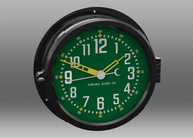 """NEW! Patriot Colors Clock - 8.5"""" Green Dial"""