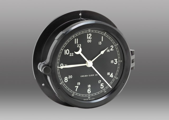 Patriot Deck Clock - Black Dial