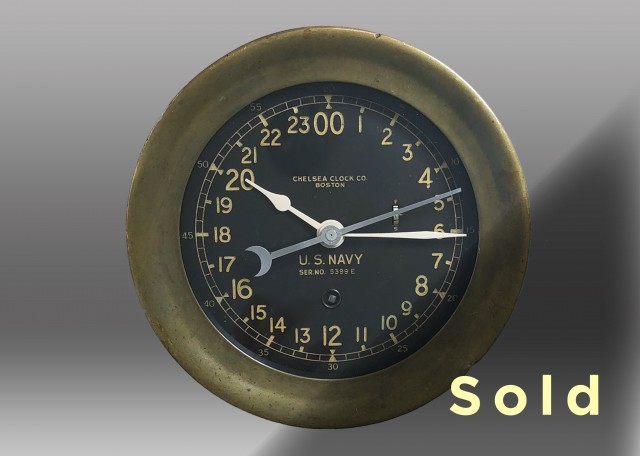 "6"" Marine Mechanical Deck Clock, 1942"