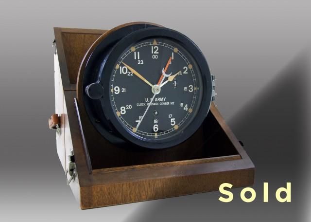 """6"""" Marine Mechanical Message Center Clock, 1983"""