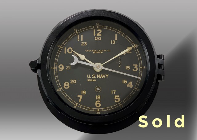 "6"" Marine Mechanical Clock, 1943"