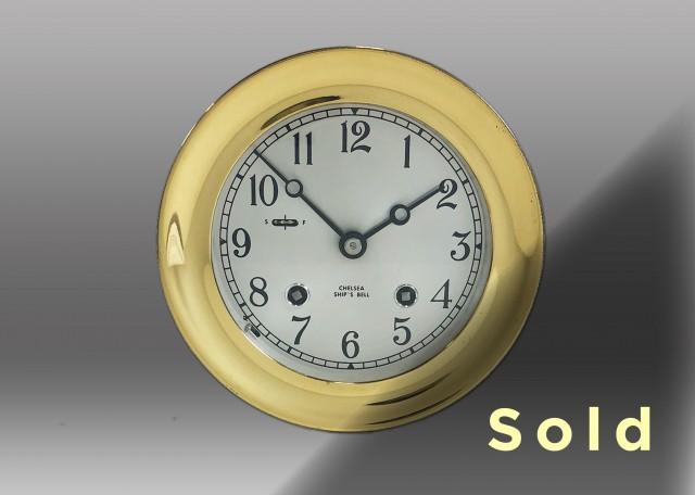 """4.5"""" Ships Bell Mechanical Clock, 1977"""