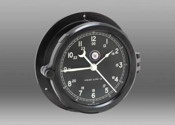US Navy Patriot Deck Clock - Black Dial