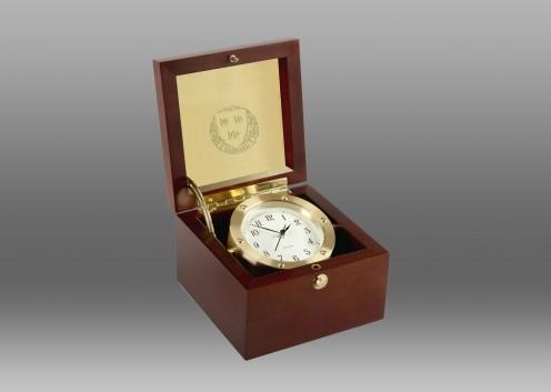 Boardroom Clock in Brass