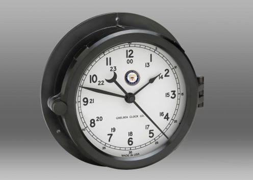 US Navy Patriot Deck Clock - White Dial