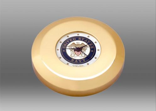 US Navy Chart Weight Clock in Brass