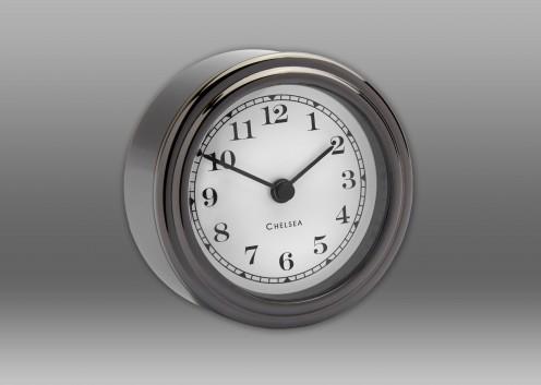 Harwich Desk Clock, Black Titanium