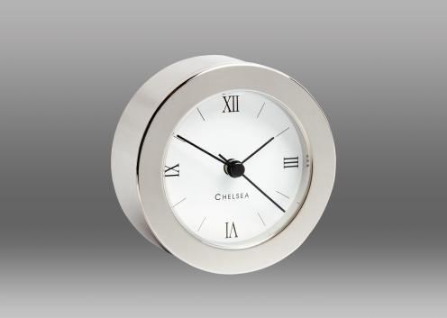 Duxbury Desk Clock, Nickel
