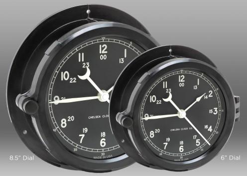 "Patriot Deck Clock - 8.5"" Black Dial"