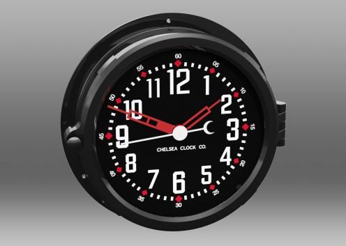"""NEW! Patriot Colors Clock - 8.5"""" Black Dial"""