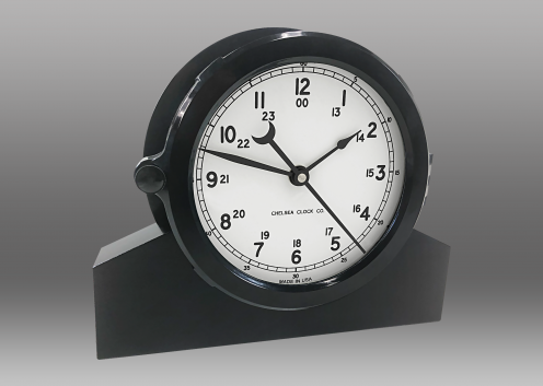 "Patriot Deck Clock and Base - 6"" White Dial"