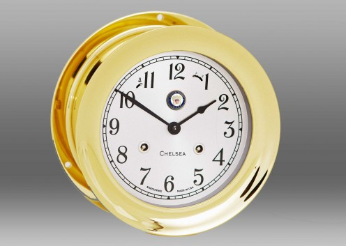 "US Navy 6"" Shipstrike Clock in Brass"