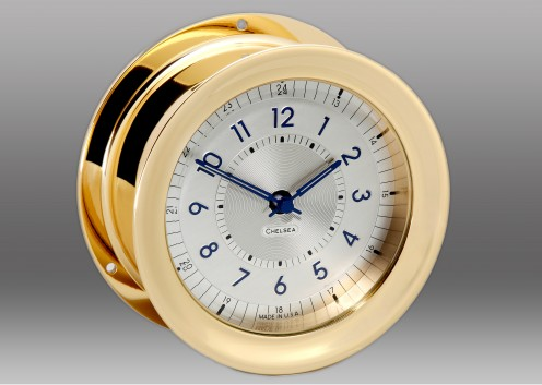 Polaris 12/24 Clock, Brass
