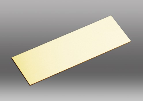 Flat Engraving Plate in Brass