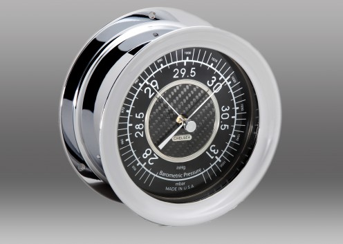 Carbon Fiber Barometer, Chrome