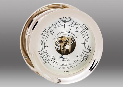 "6"" Ship's Bell Barometer in Nickel"
