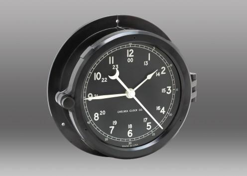 "Patriot Deck Clock - 6"" Black Dial"