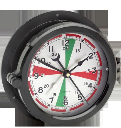 Military Time Clock >> Chelsea Clock Patriot Deck Clock Military Time Clock Navy Deck